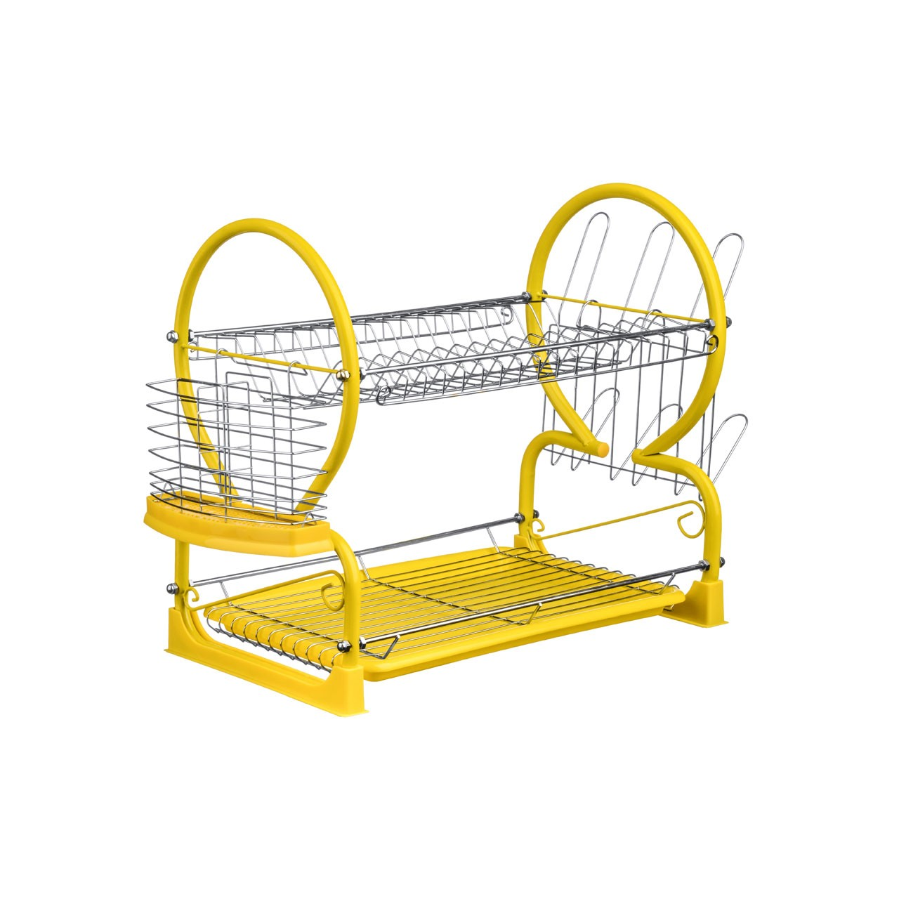 2-Tier Dish Drainer - Yellow