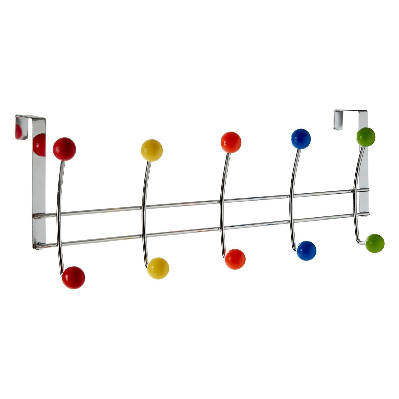 Prime Furnishing 10-Hook Over Door Hanger, Multi-Colour