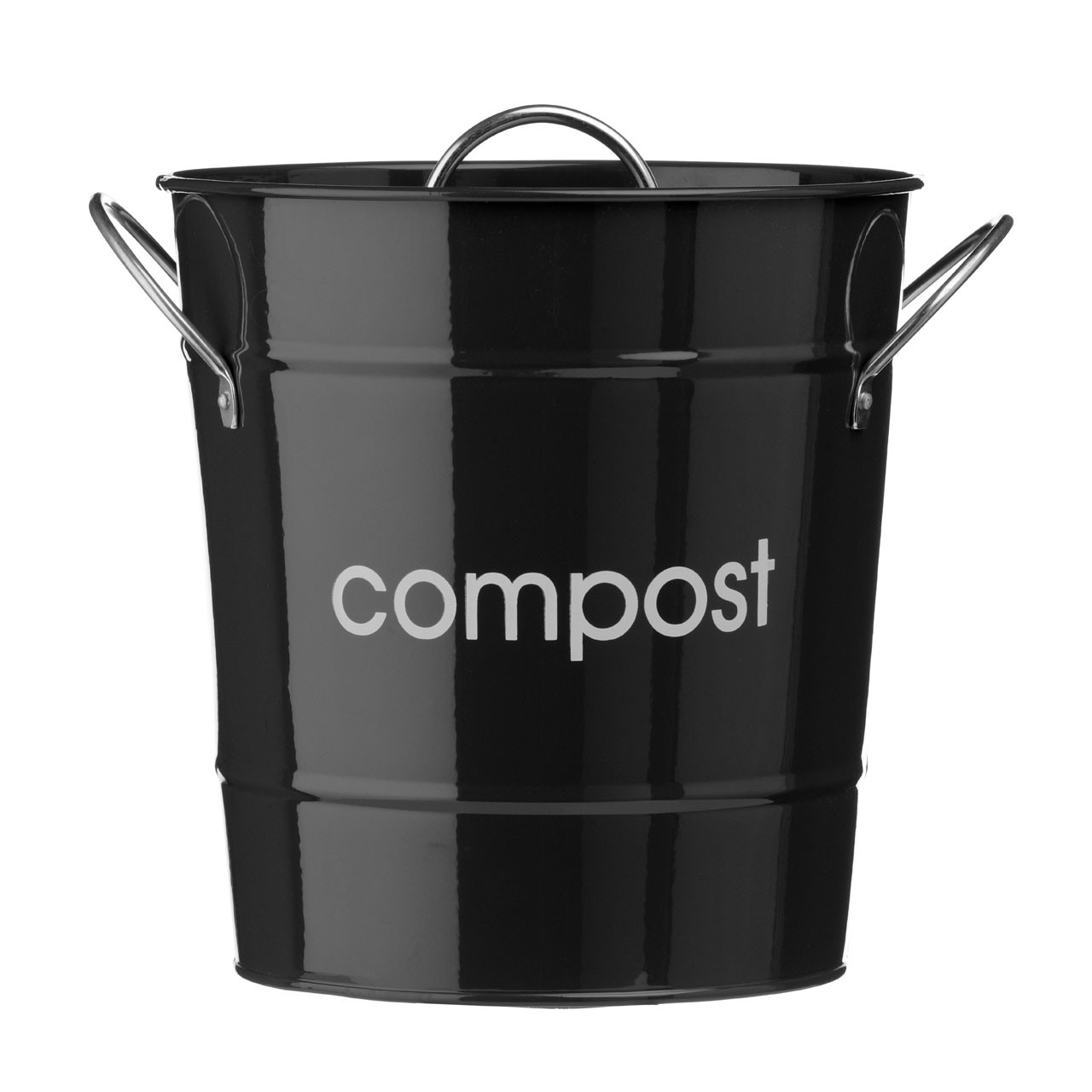 Premier Housewares Compost Bin, Black