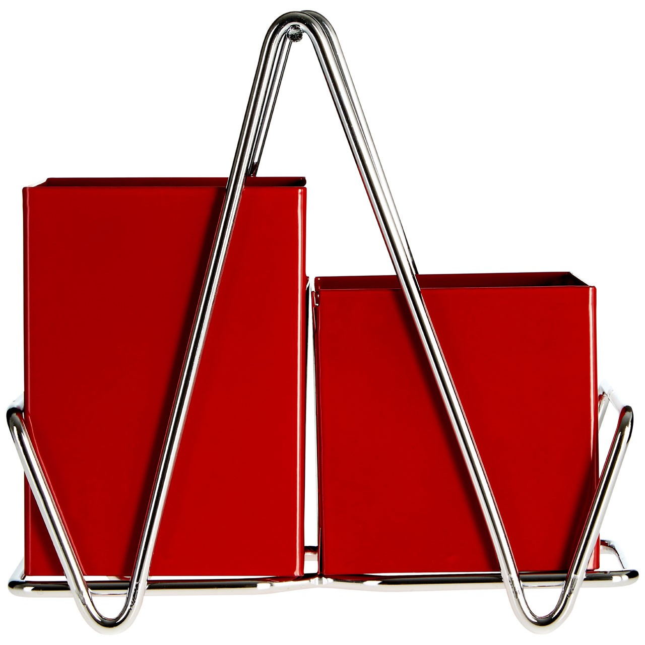 Prime Furnishing 2 Compartment Cutlery Caddy - Red