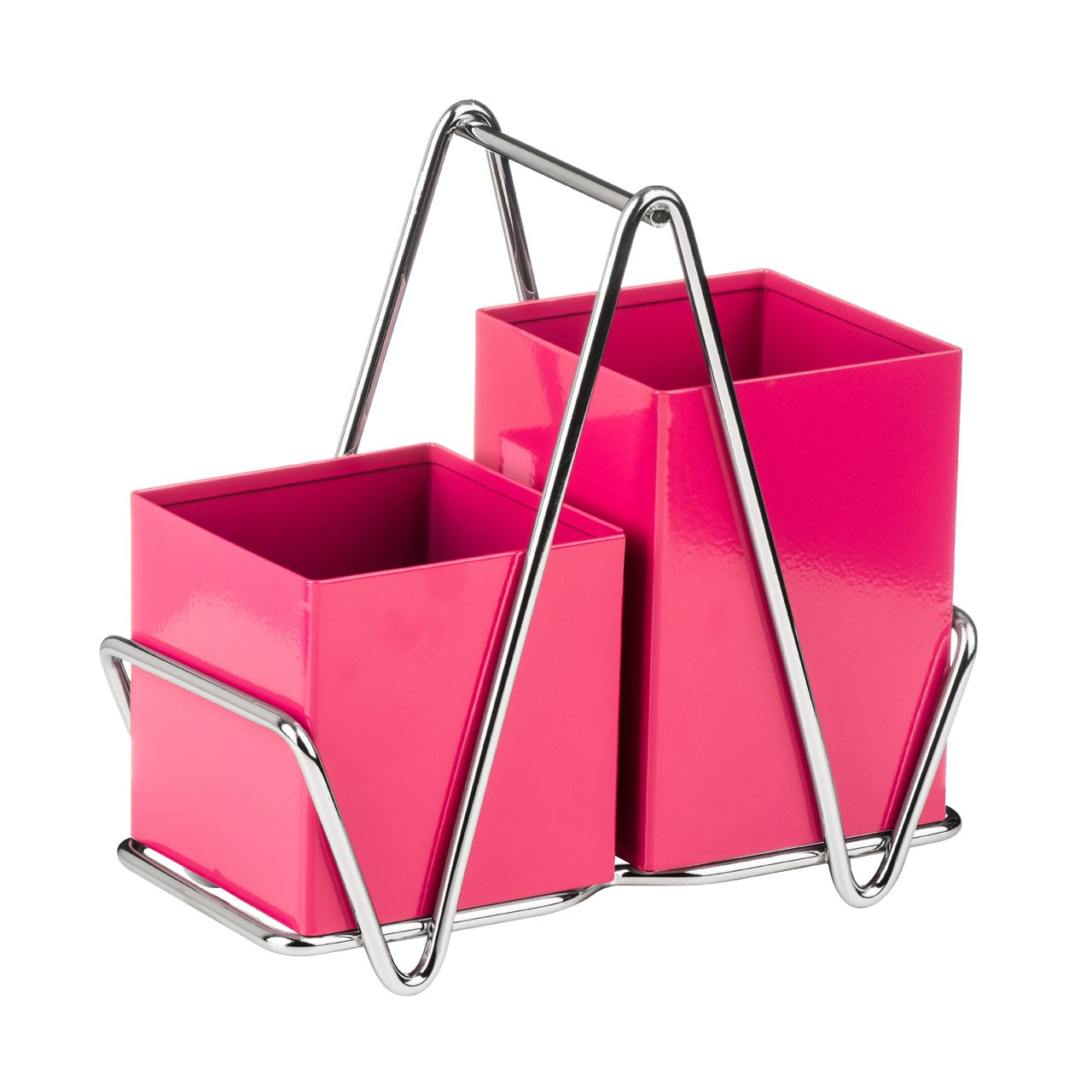 2 Compartment Cutlery Caddy, Hot Pink