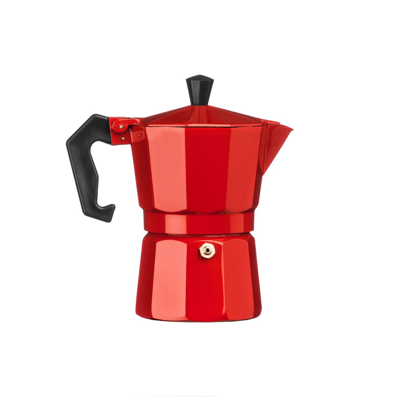 3-Cup Espresso Maker, Red