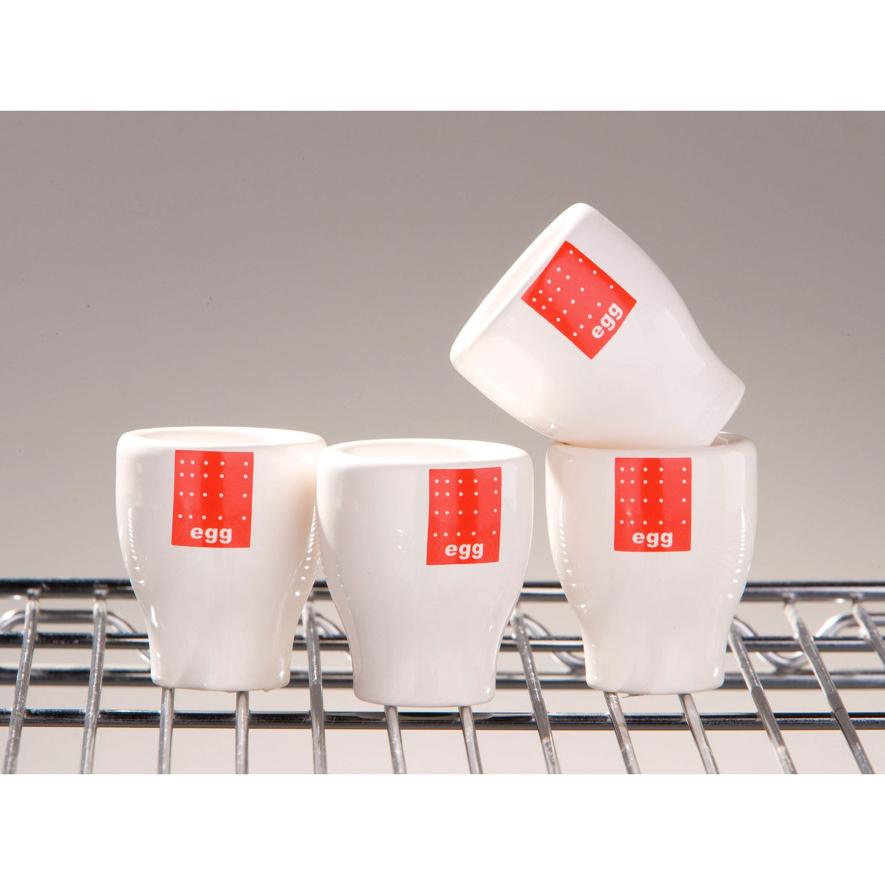 Red Tag Egg Cups - Set of 4
