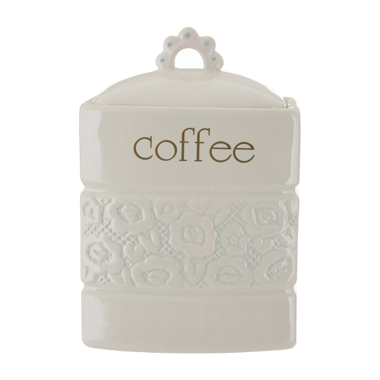Georgia Coffee Canister - Cream - Small