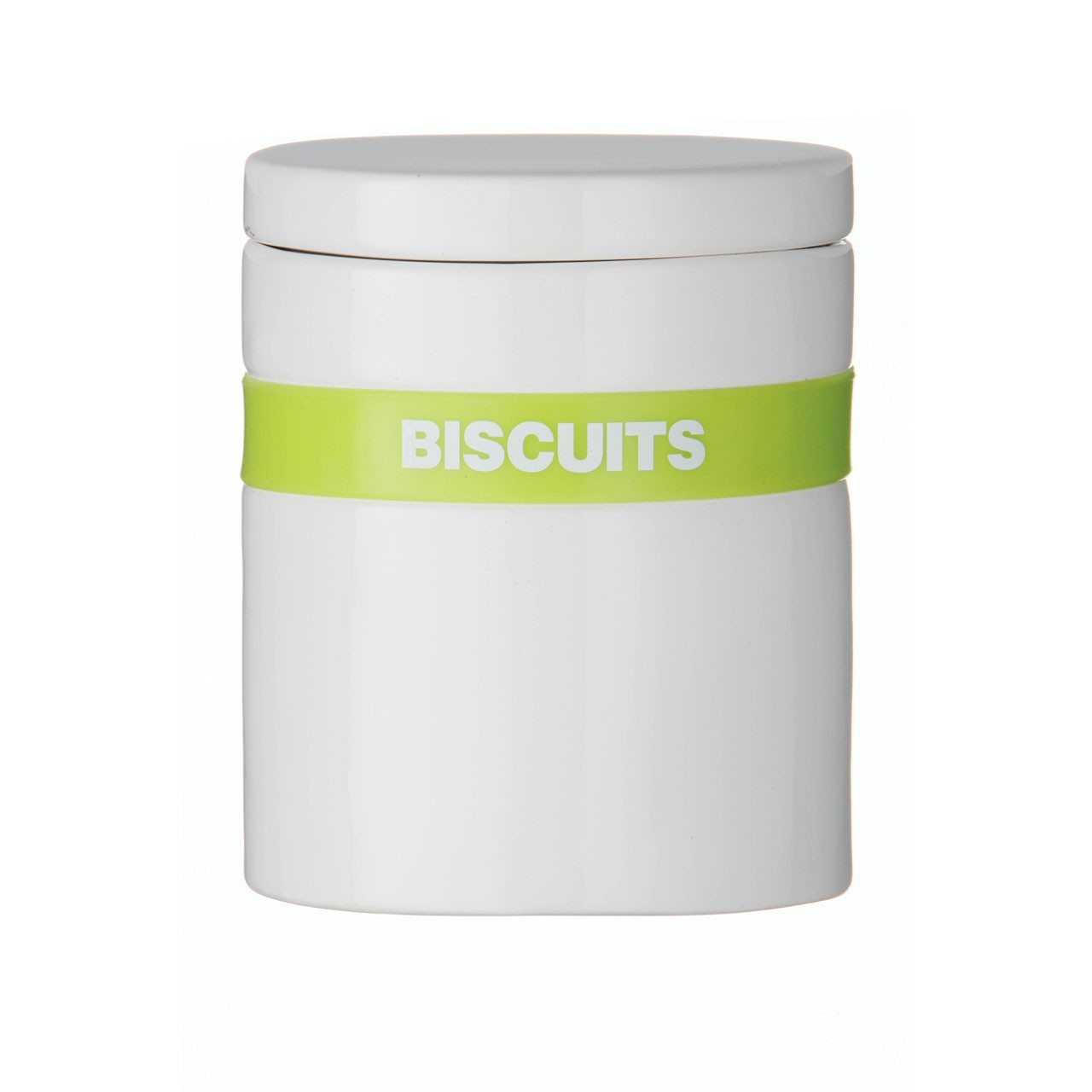 Silicone Band Biscuit Canister - Lime Green