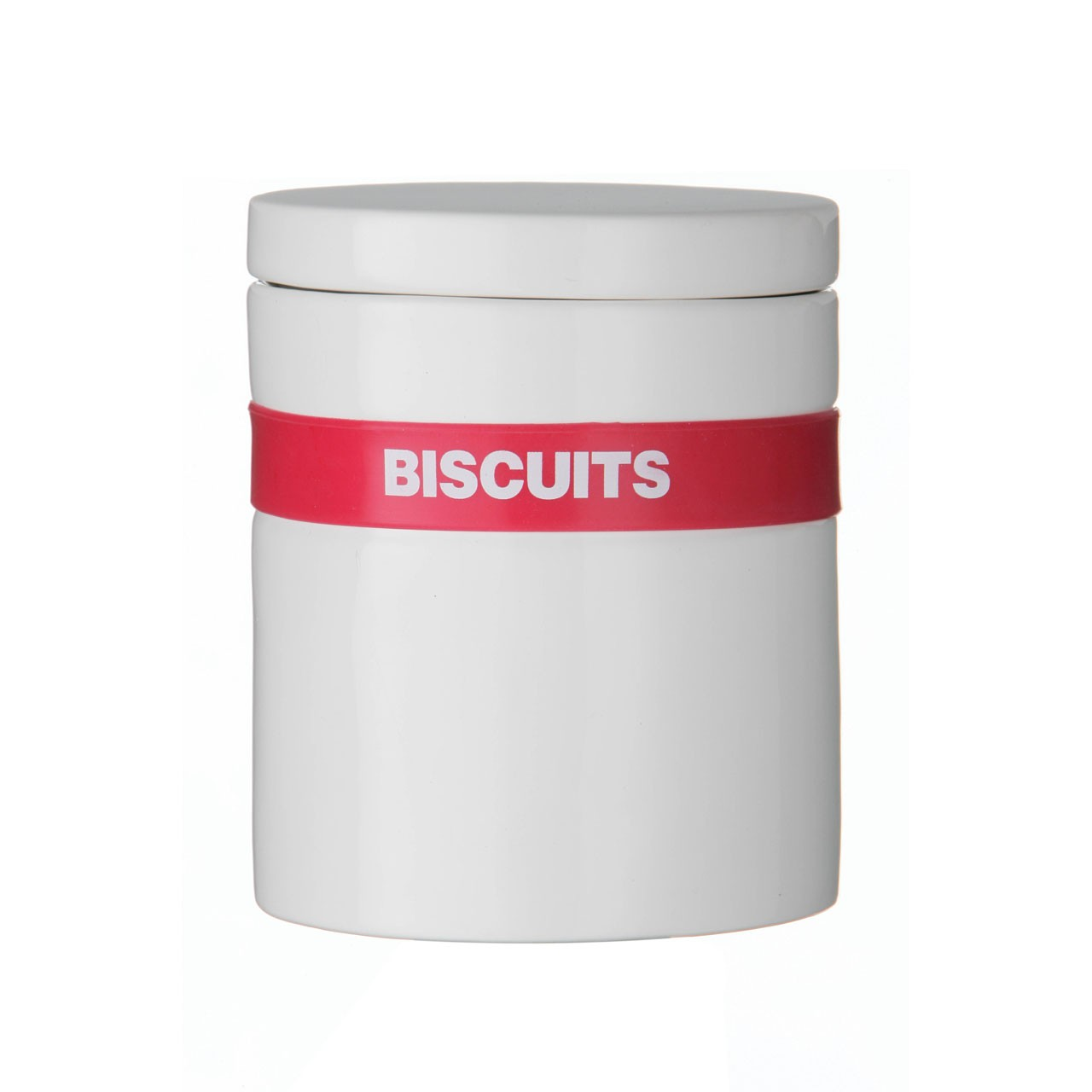 Silcone Band Biscuit Canister - Hot Pink