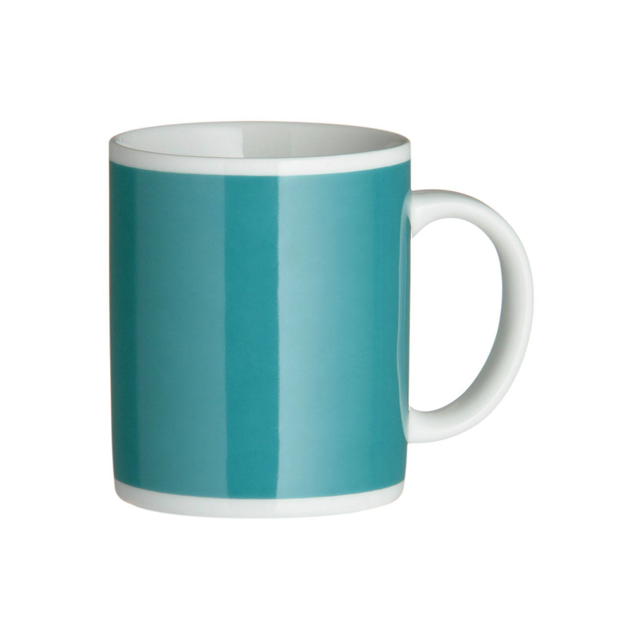 Teal Funky Mugs - Set of 4
