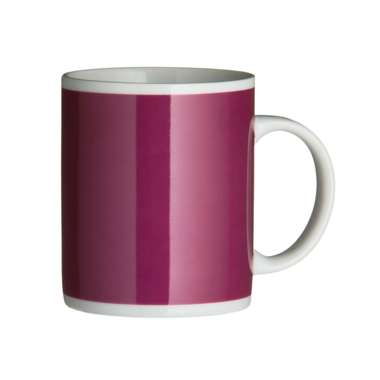 Porcelain 11 oz Mugs - Berry, Set of 6