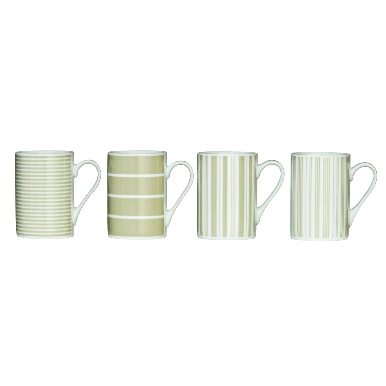 Set of 4 Taupe Stripe