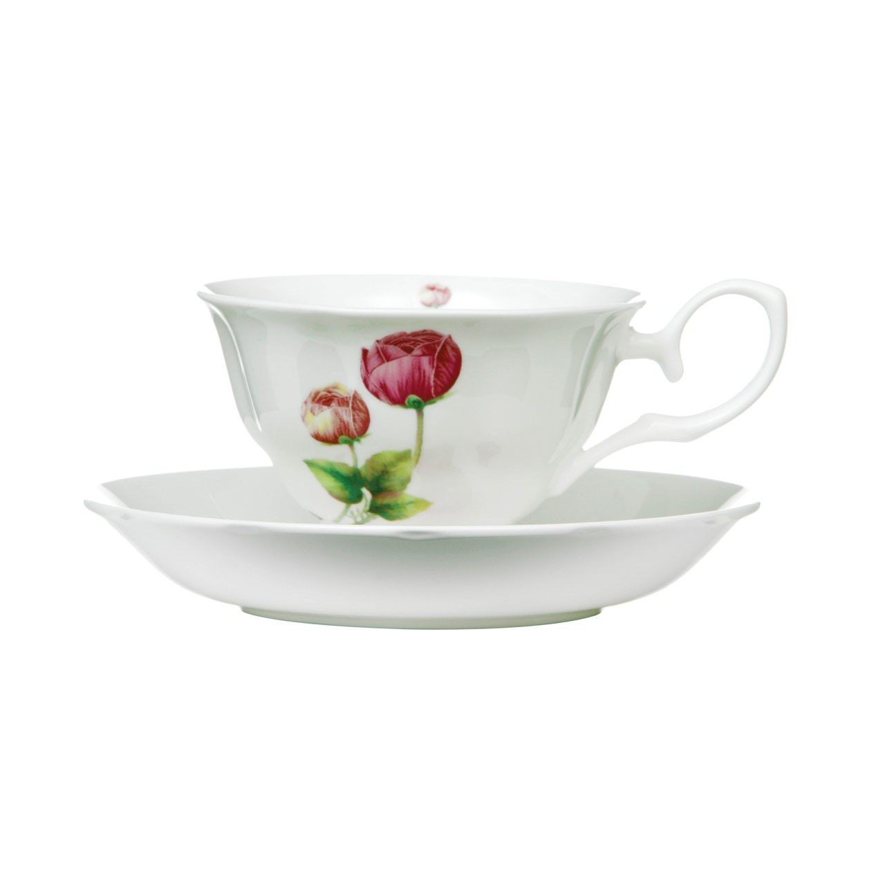 160ml Cup and Saucer , Set of 2, Peony
