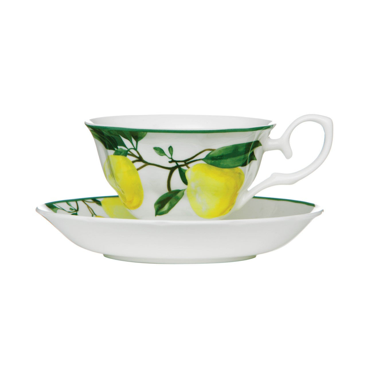 160ml Cup and Saucer, Set of 2, Lemon Tree