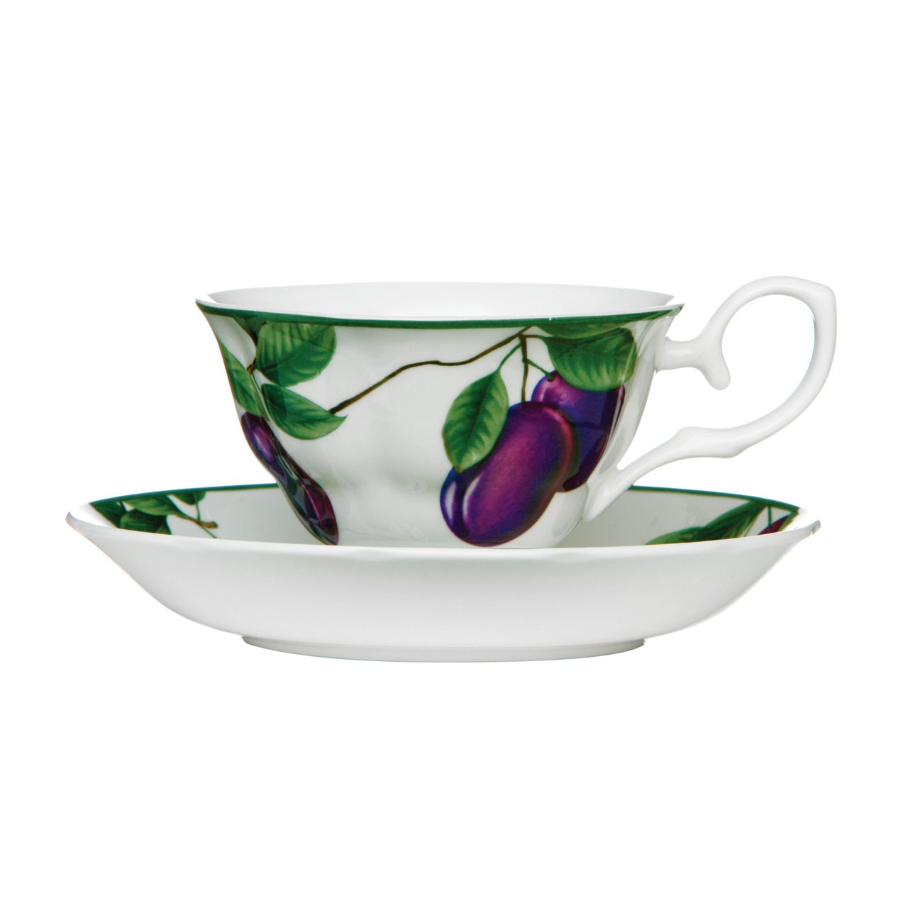 Cup And Saucer Sugar Plum Set of 2 160ml Bone China