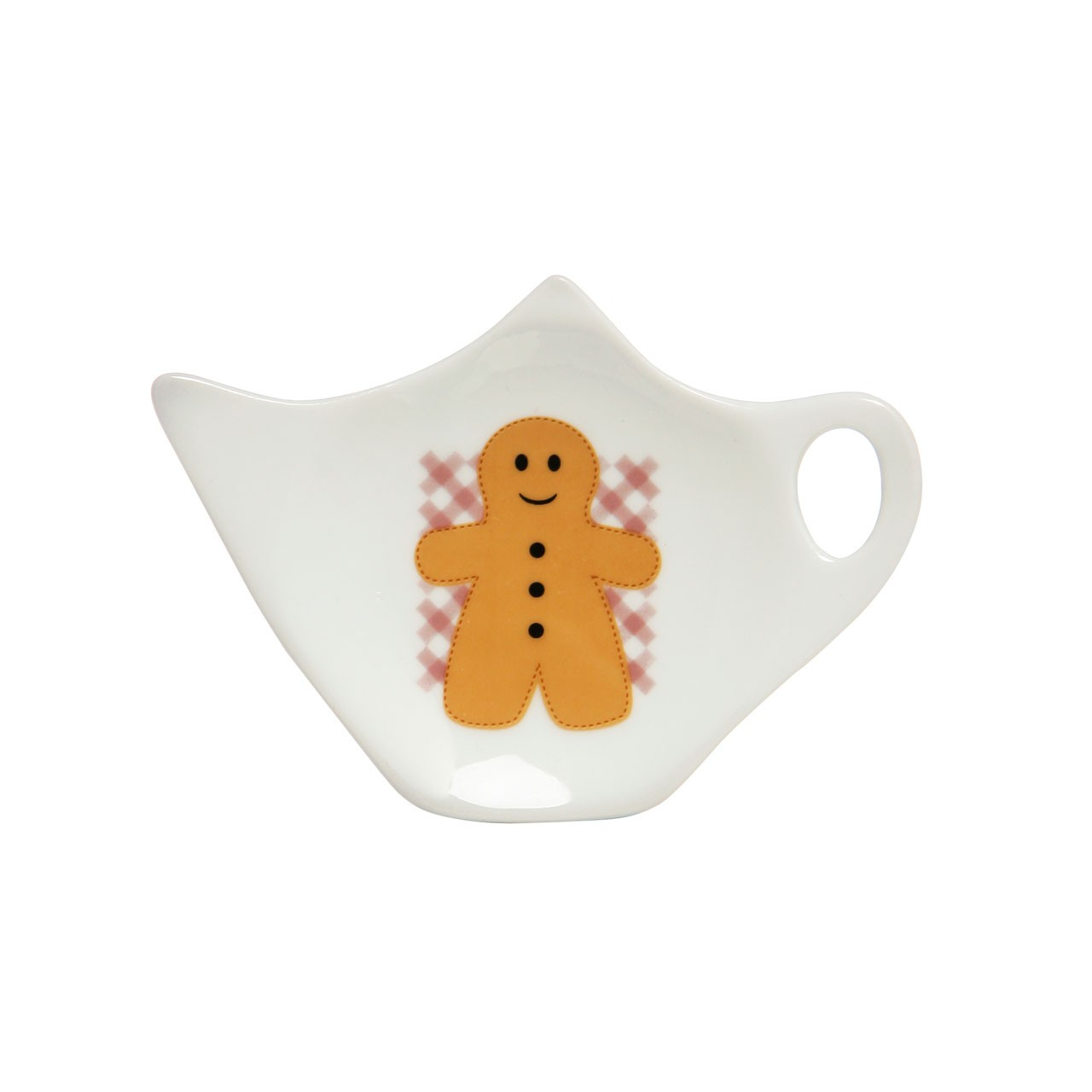 Gingerbread Man Teabag Tidy,Porcelain