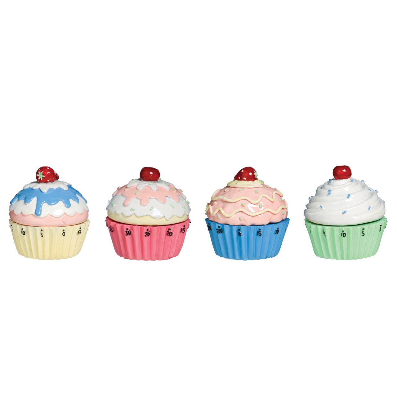 Attractive Cupcake Timer 4 Assorted With Awesome Cupcake Design