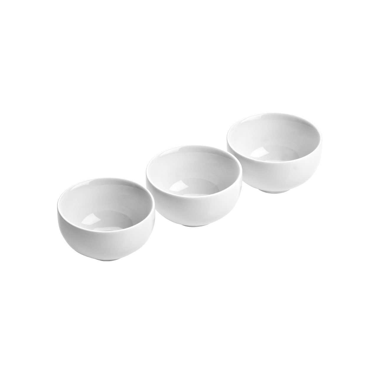 Round Entre Serving Dishes - White Porcelain, Set of 3