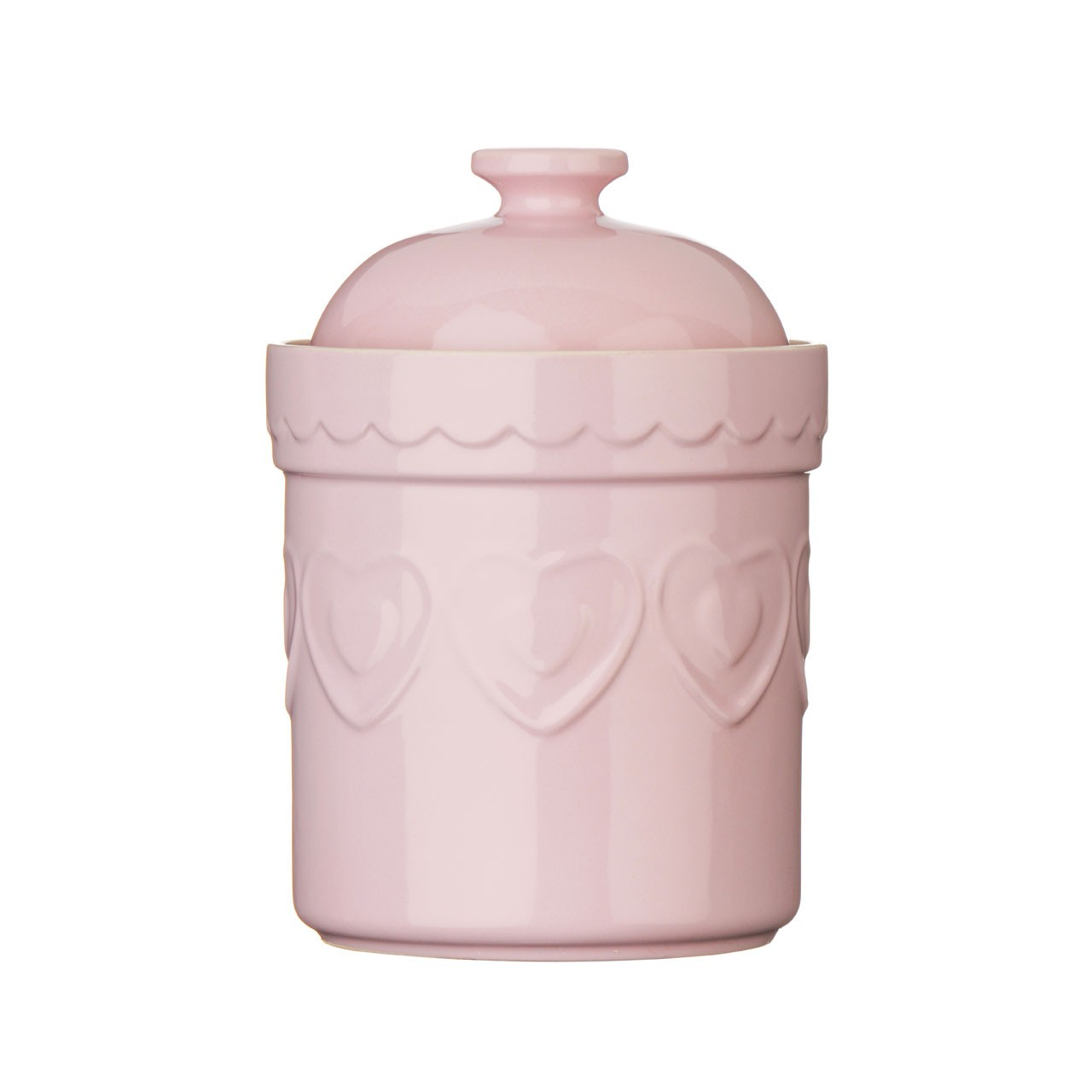 Sweet Heart Storage Canister, Pastel Pink - Set Of 3