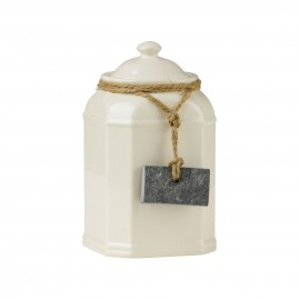 Tea Coffee Sugar Storage Jars With Slate Tag Cream Dolomite