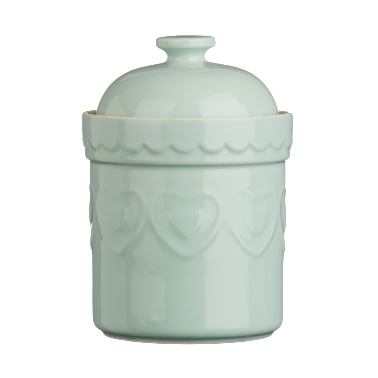 Sweet Heart Storage Canister, Pastel Green