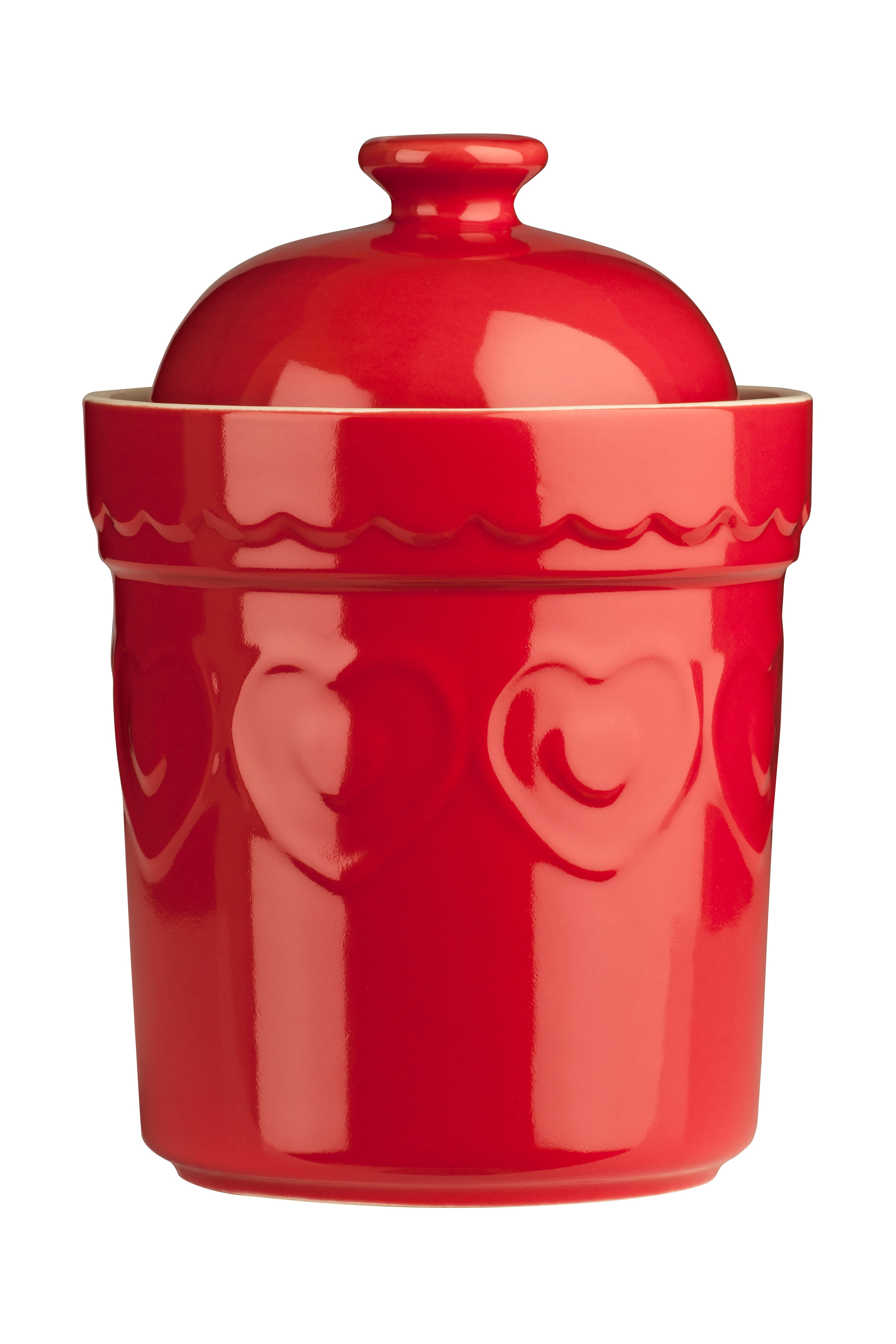 Sweet Heart Storage Canister, Red - 0.8ltr