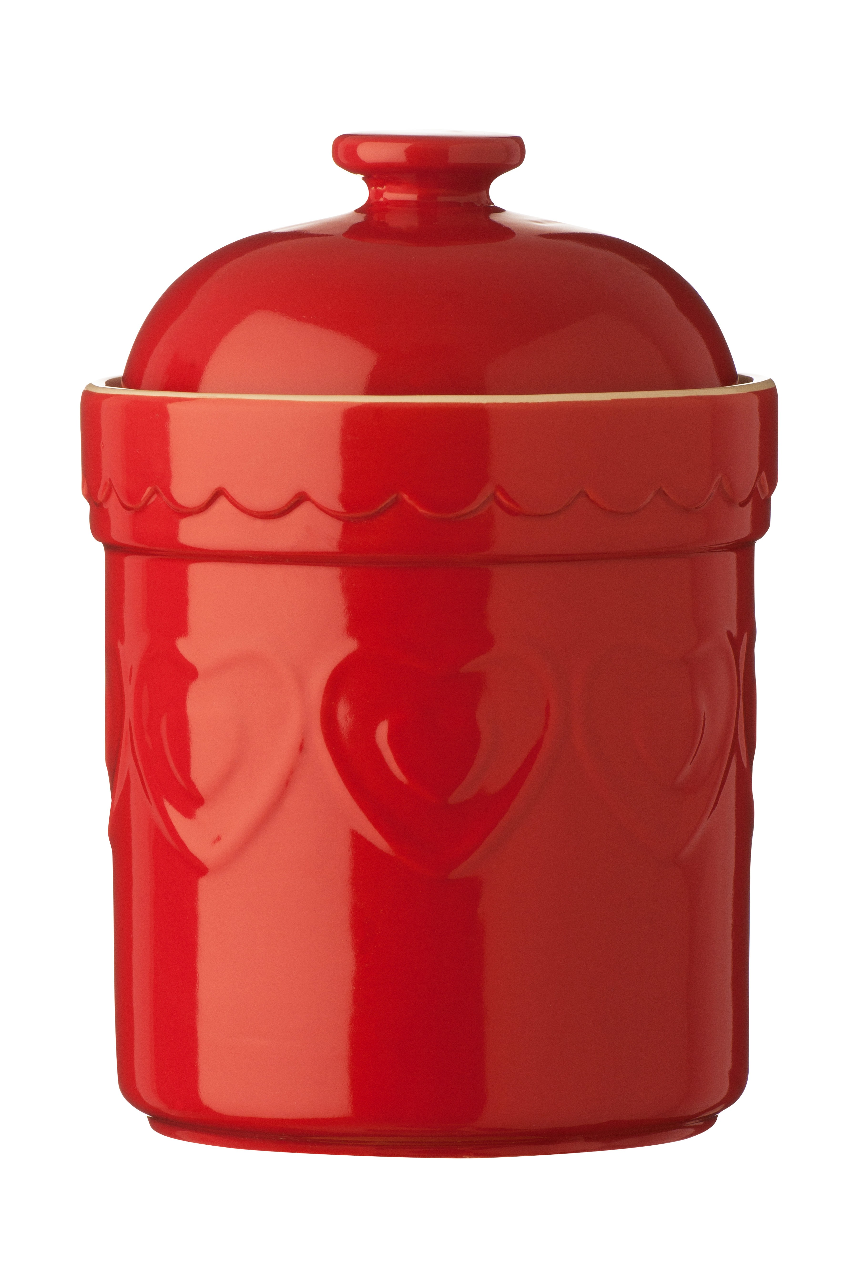 Sweet Heart Storage Canisters, Red - Set of 3
