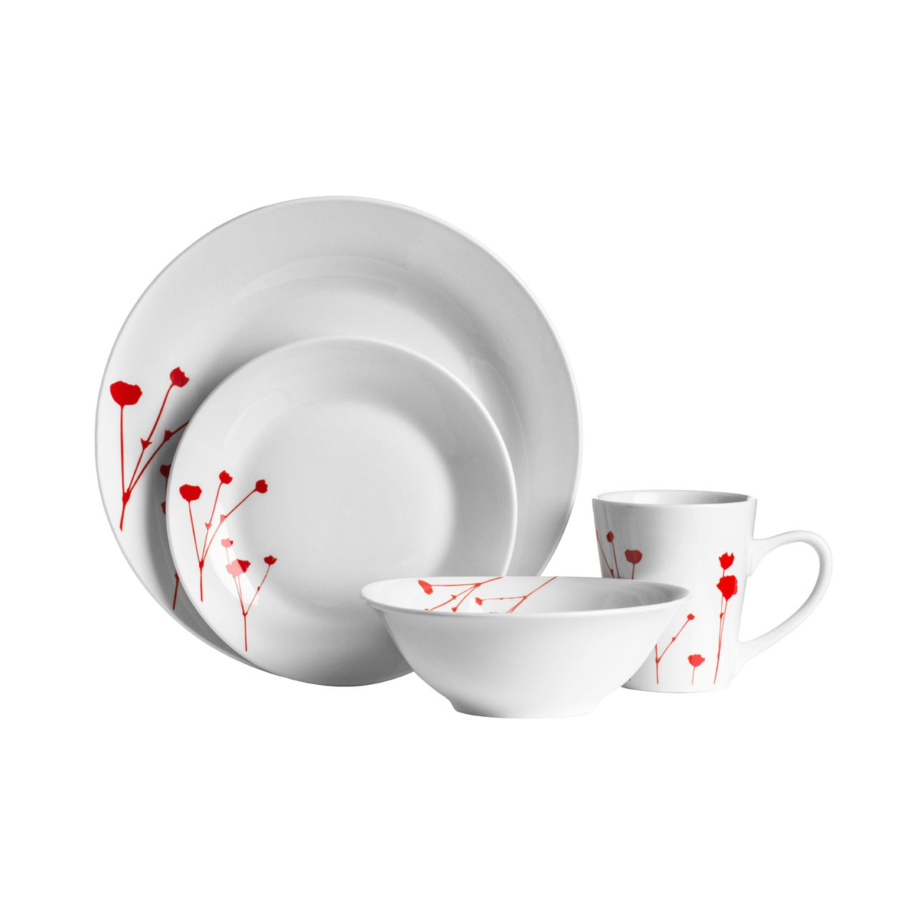 16 Piece Wild Flower Porcelain Dinner Set