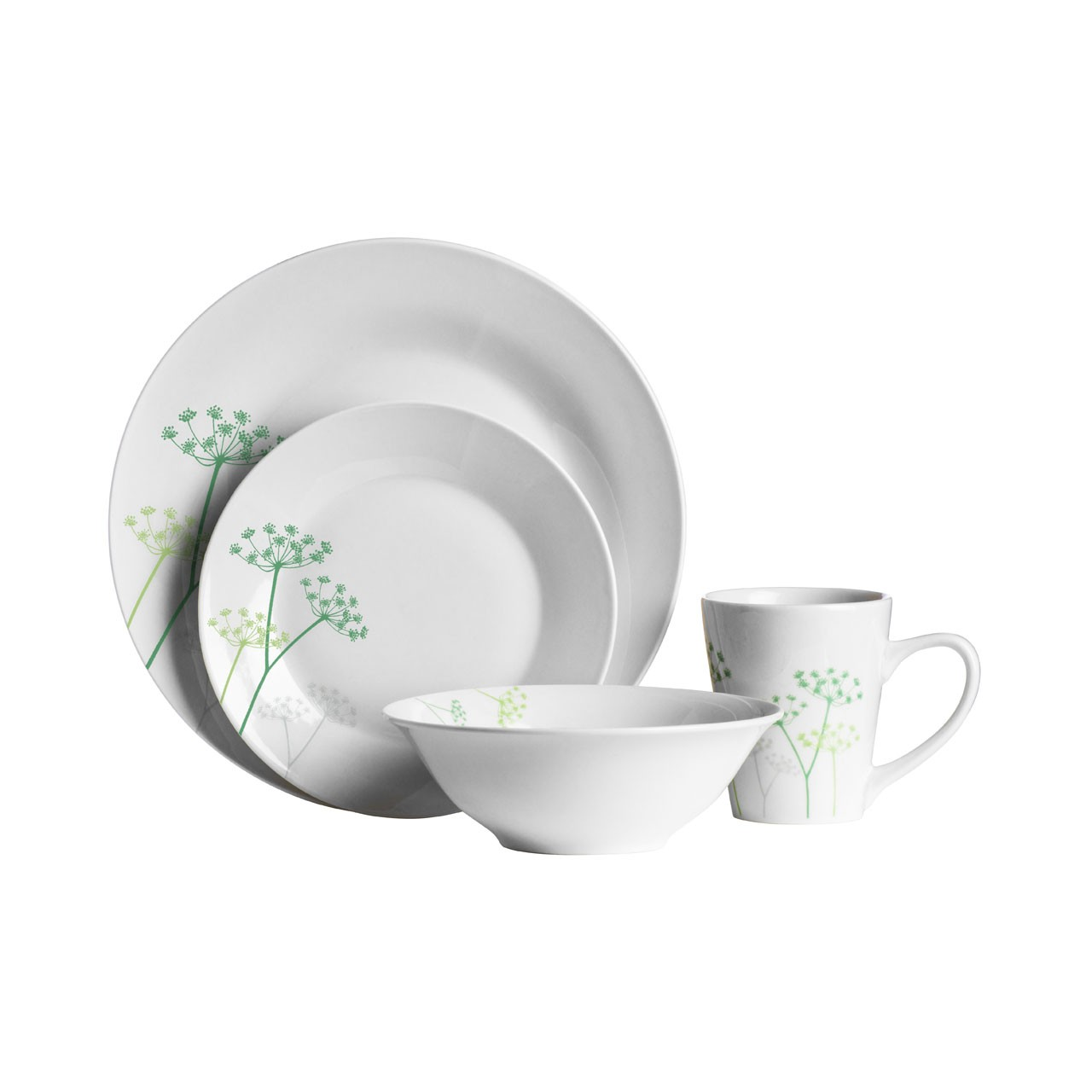 16 Piece Cow Parsley Porcelain Dinner Set