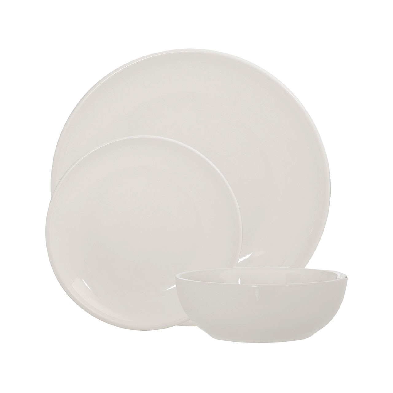 12pc Sienna Dinner Set - Ivory Stoneware