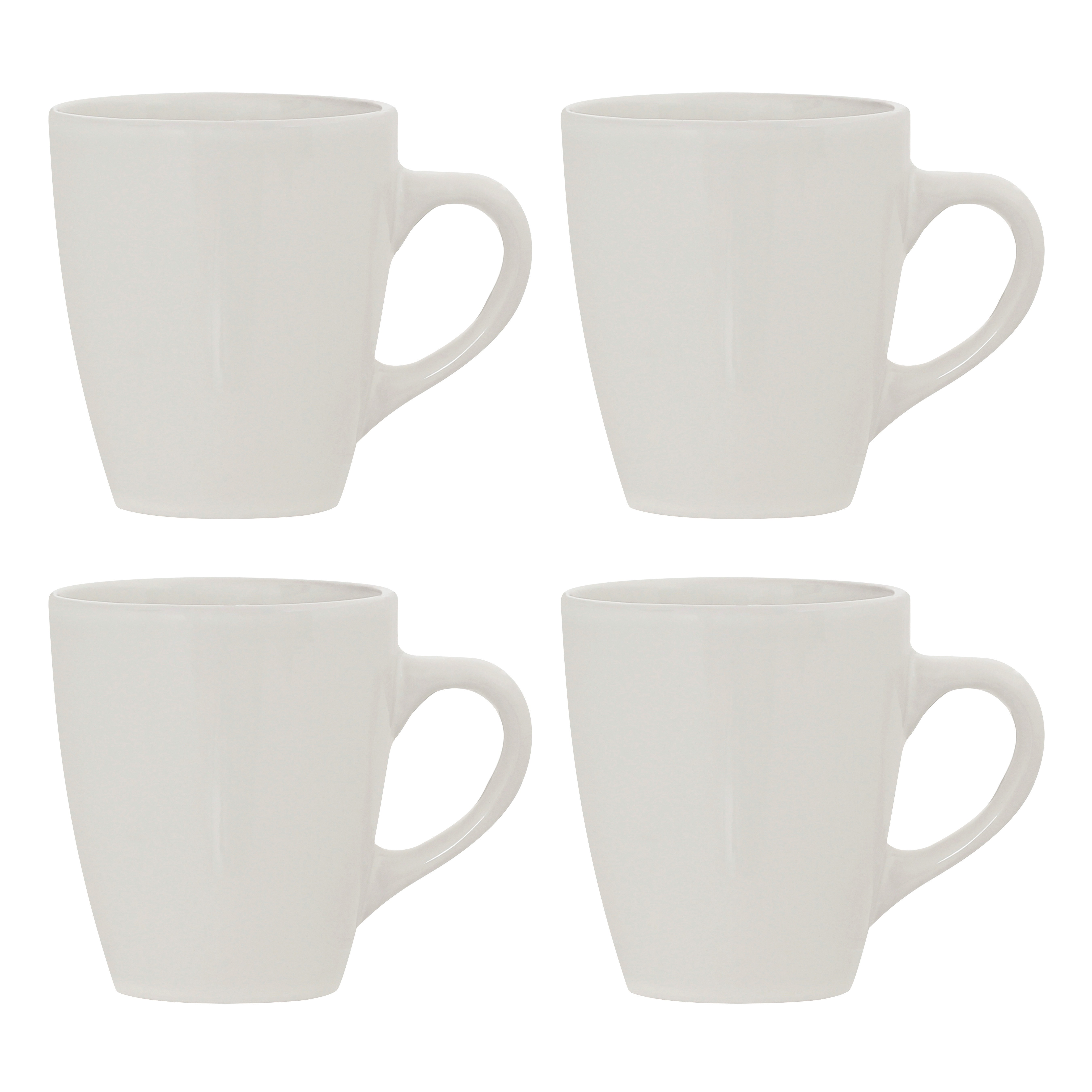 Set of 4, Sienna Ivory Stoneware Mugs