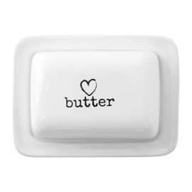 Prime Furnishing Charm Butter Dish - Cream