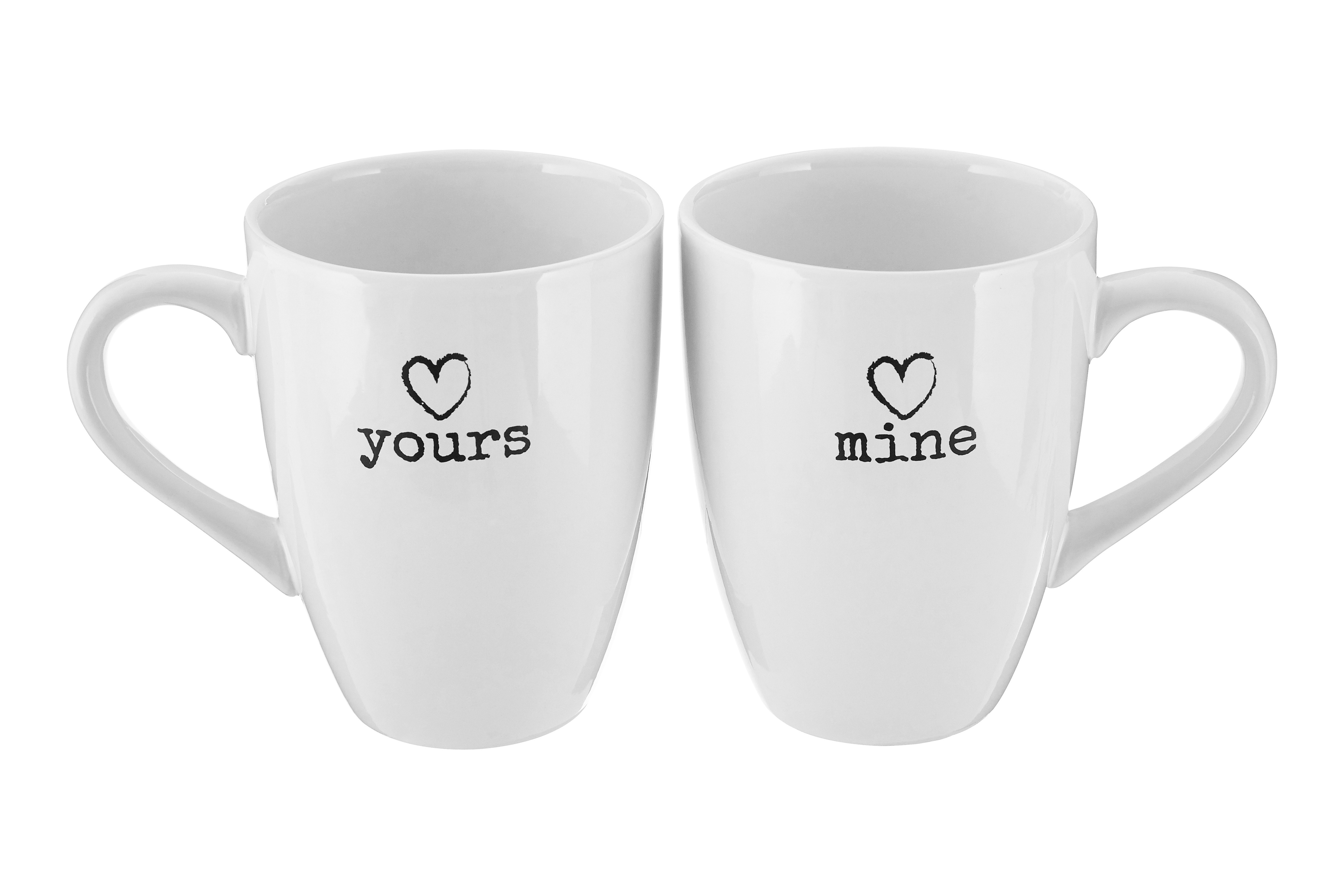 Charm Set of 2 Mugs, White Dolomite