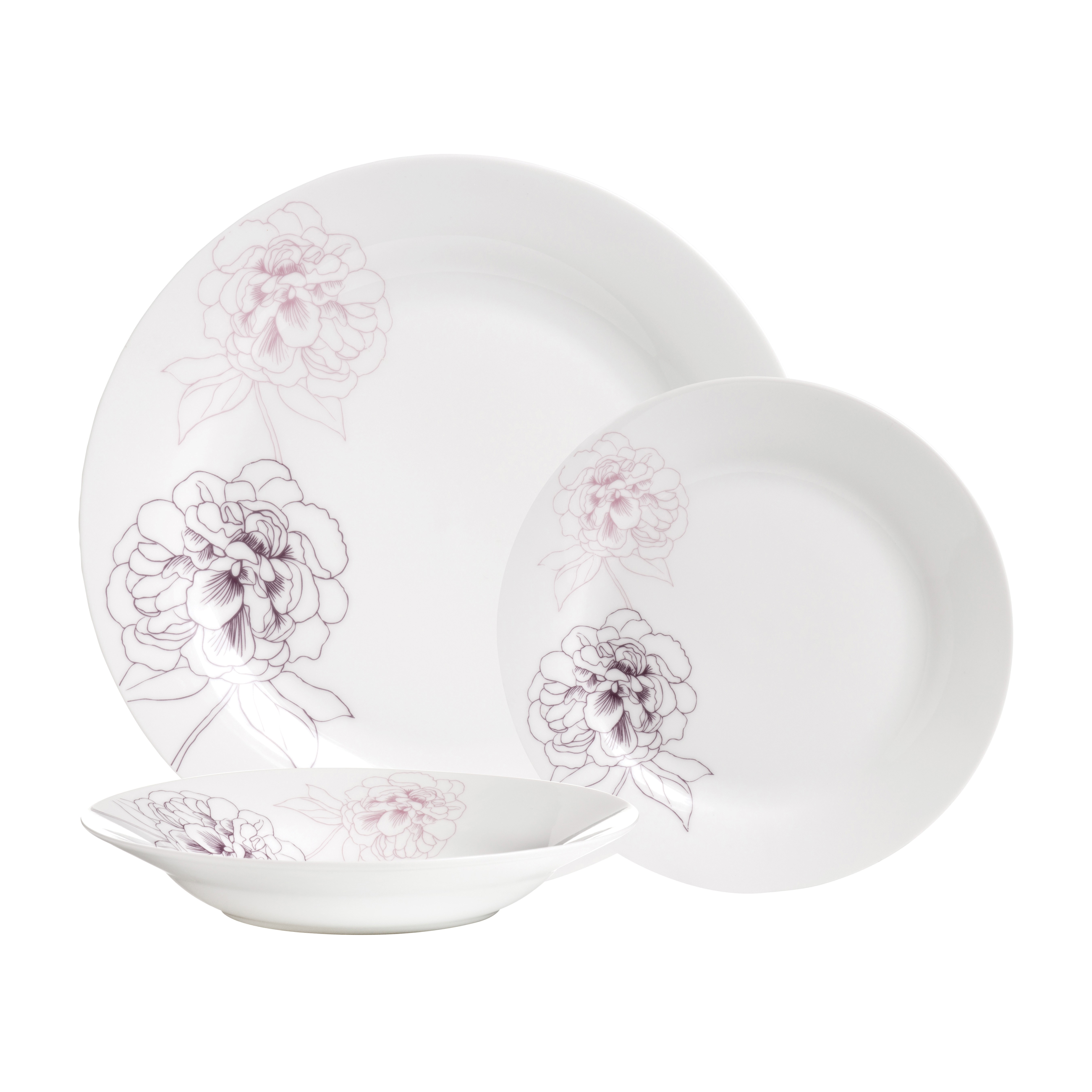 Avie 12Pc Flora Dinner Set (Mob) Dine in style