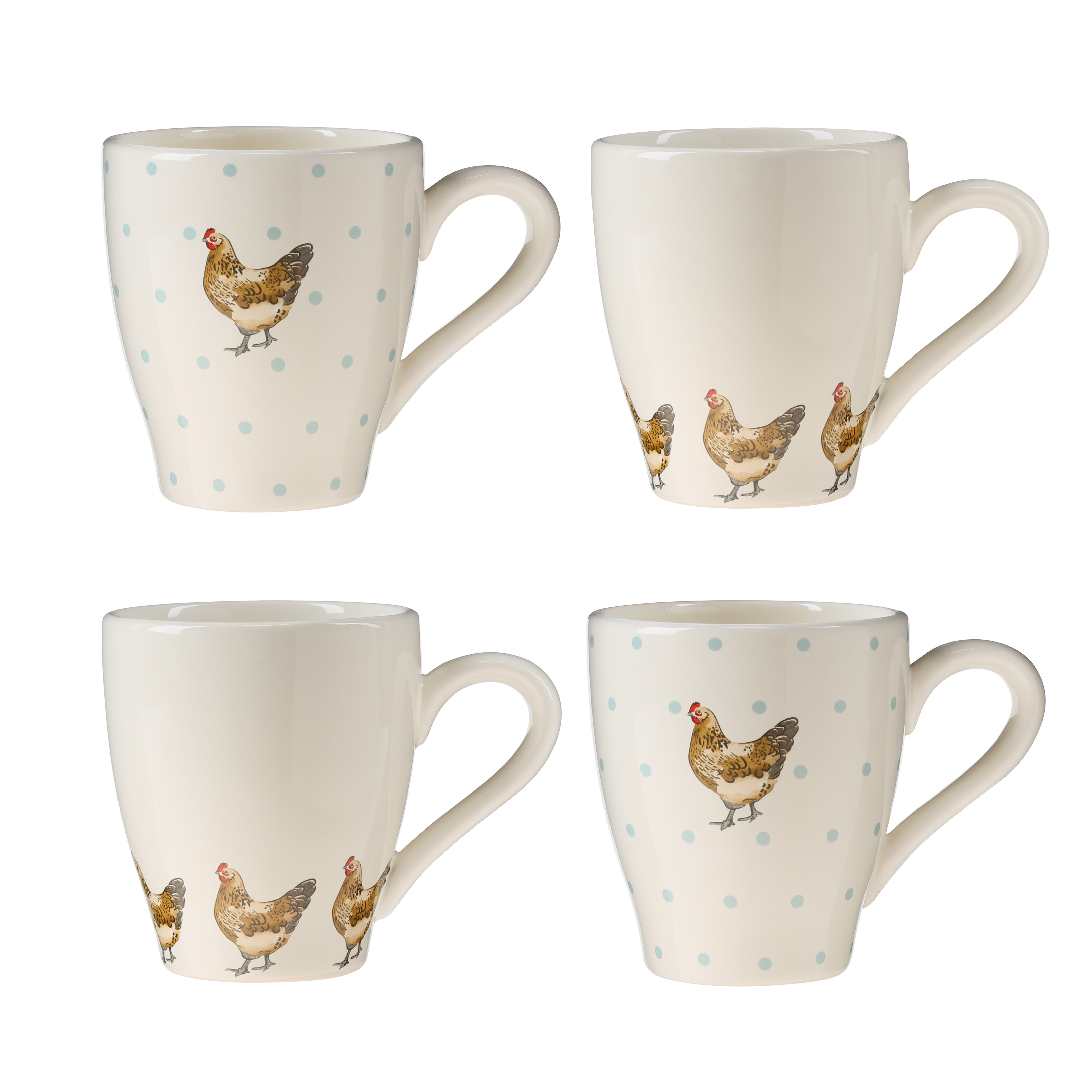 Mrs Henderson Set Of 4 Mugs Dolomite 300ml