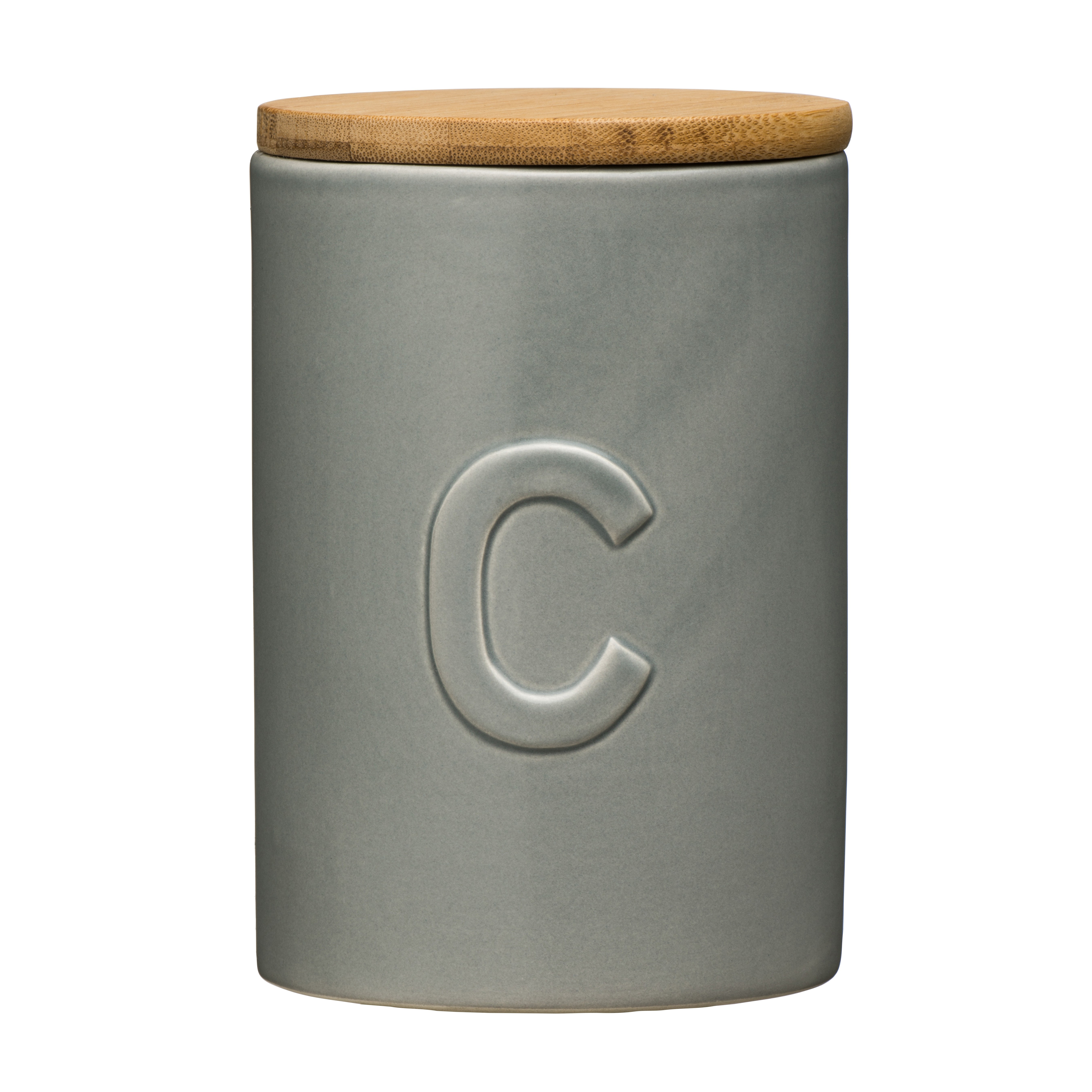 Fenwick Coffee Canister - Light Grey