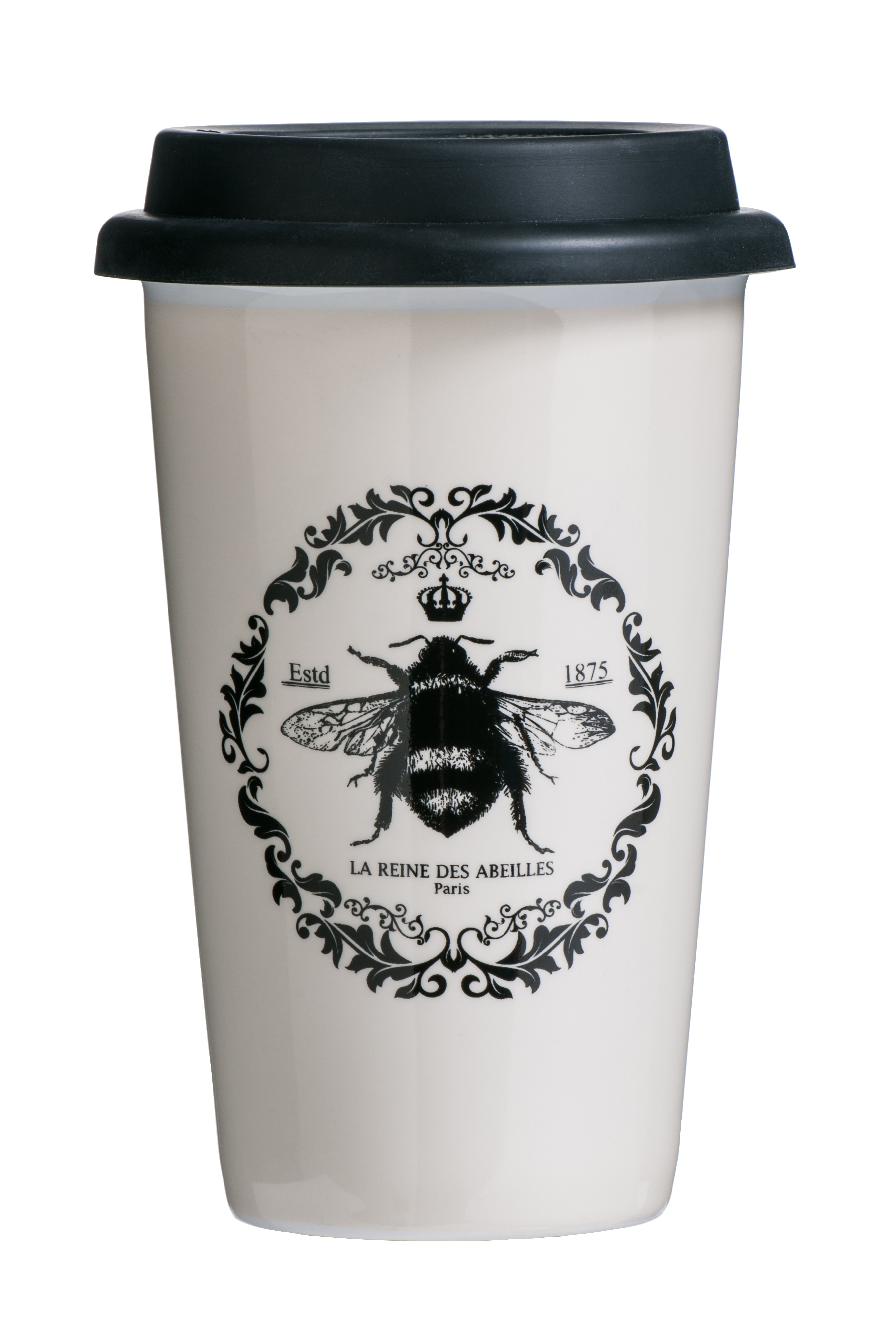 Queen Bee Travel Mug (Double Walled) Porcelain Silicone 330ml