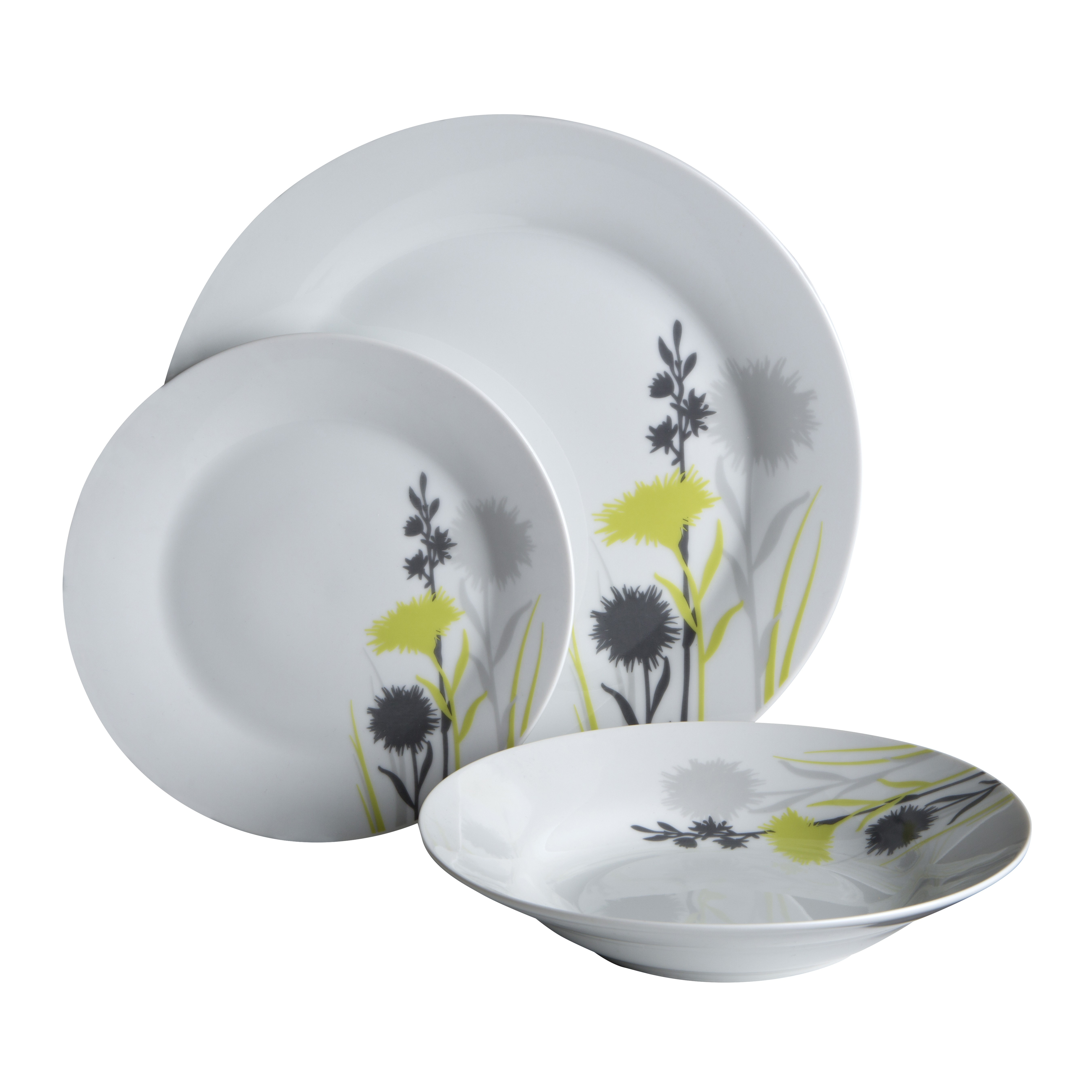 Prime Furnishing 24pc Meadow Dinner Set Porcelain