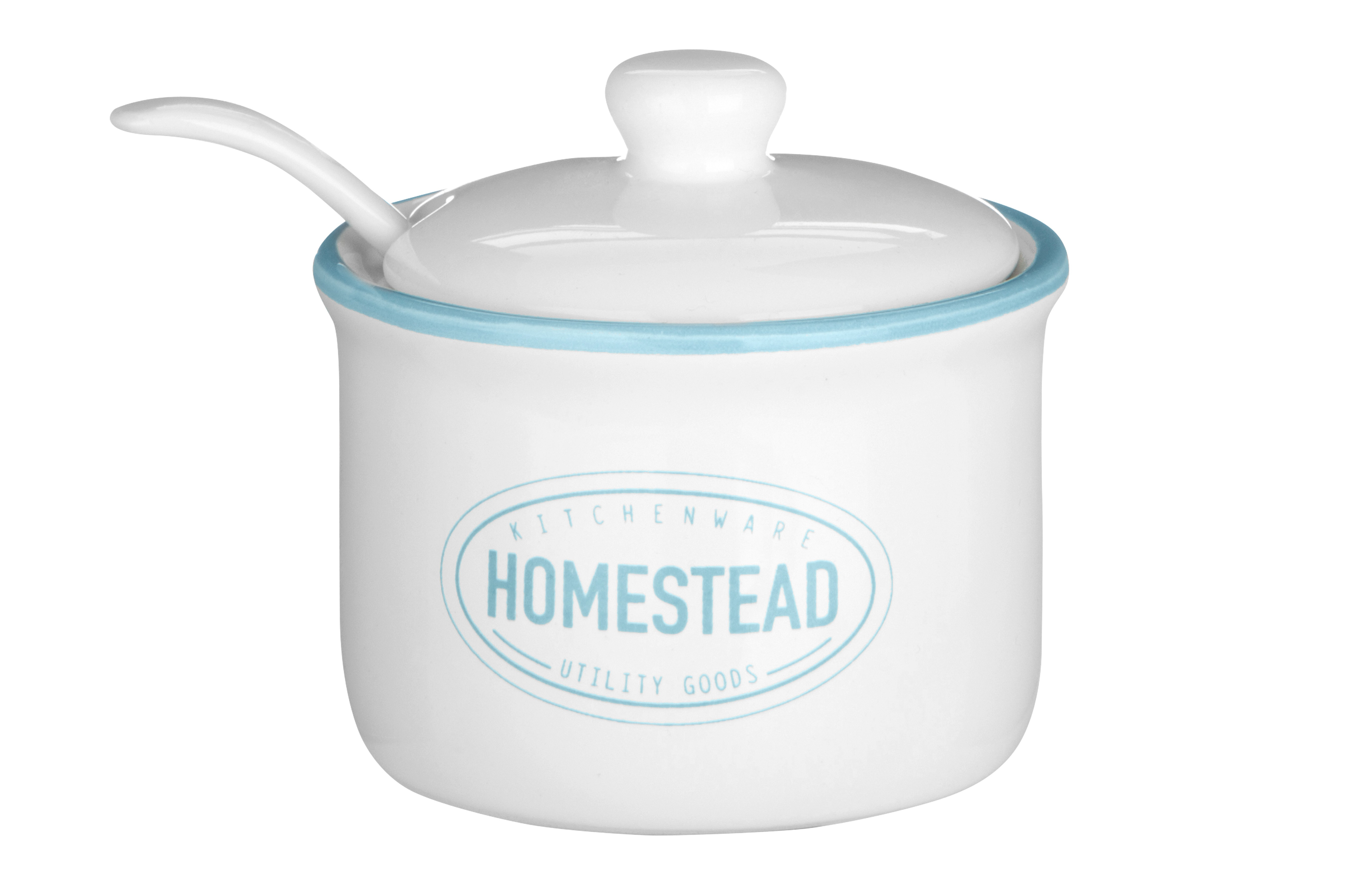 Homestead Sugar Pot W/Lid & Spoon Dolomite 130ml