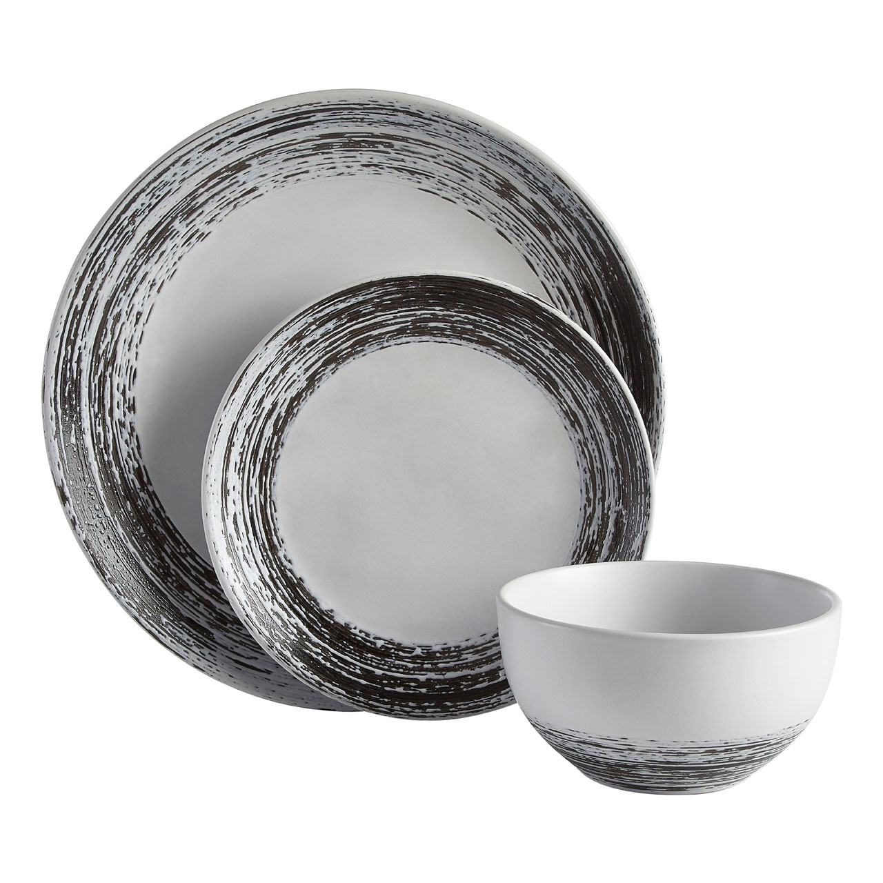 Middag Black And White Dinner Set