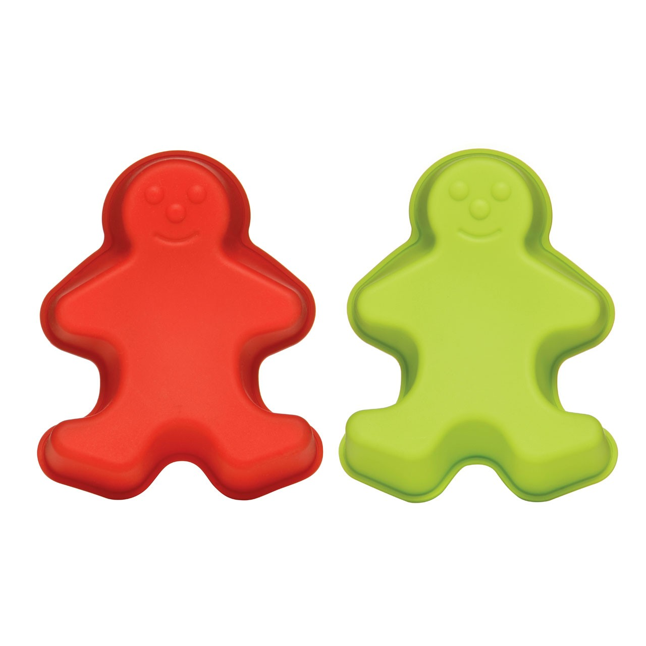 Gingerbread Man Silicone Cake Moulds - Set of 2