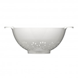 Colander with Handles - White