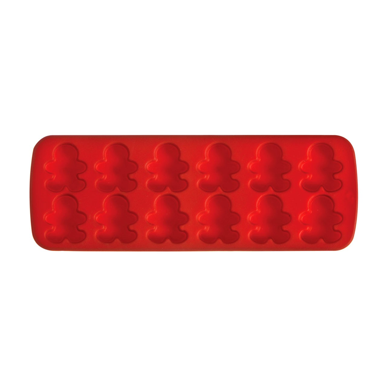 Prime Furnishing 12 Gingerbread Man Cake Mould Tray - Red