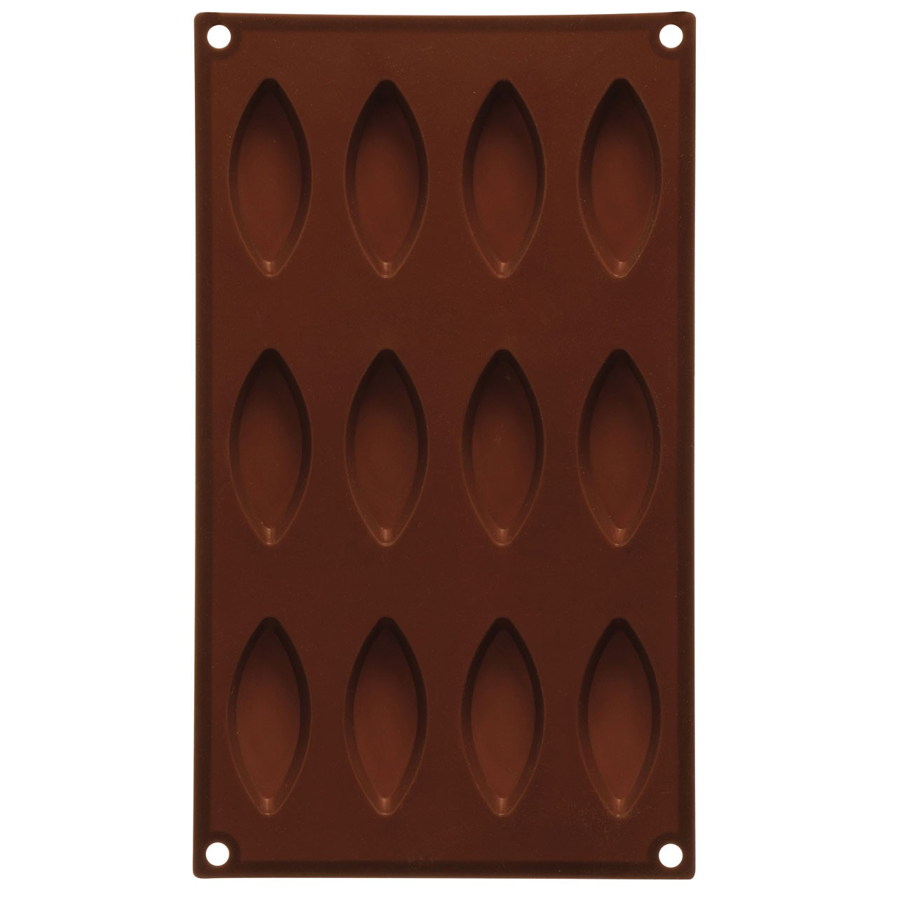 12 Eye Shaped Chocolate Mould Tray - Brown - Click Image to Close