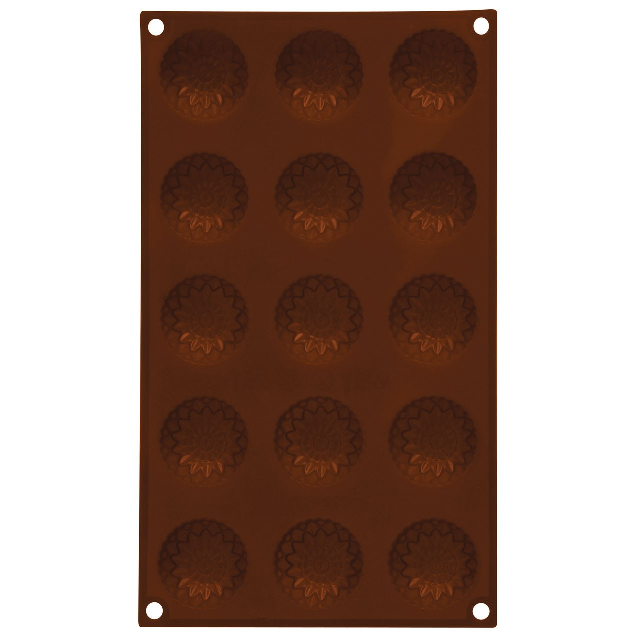 15 Sunflower Chocolate Mould Tray - Brown