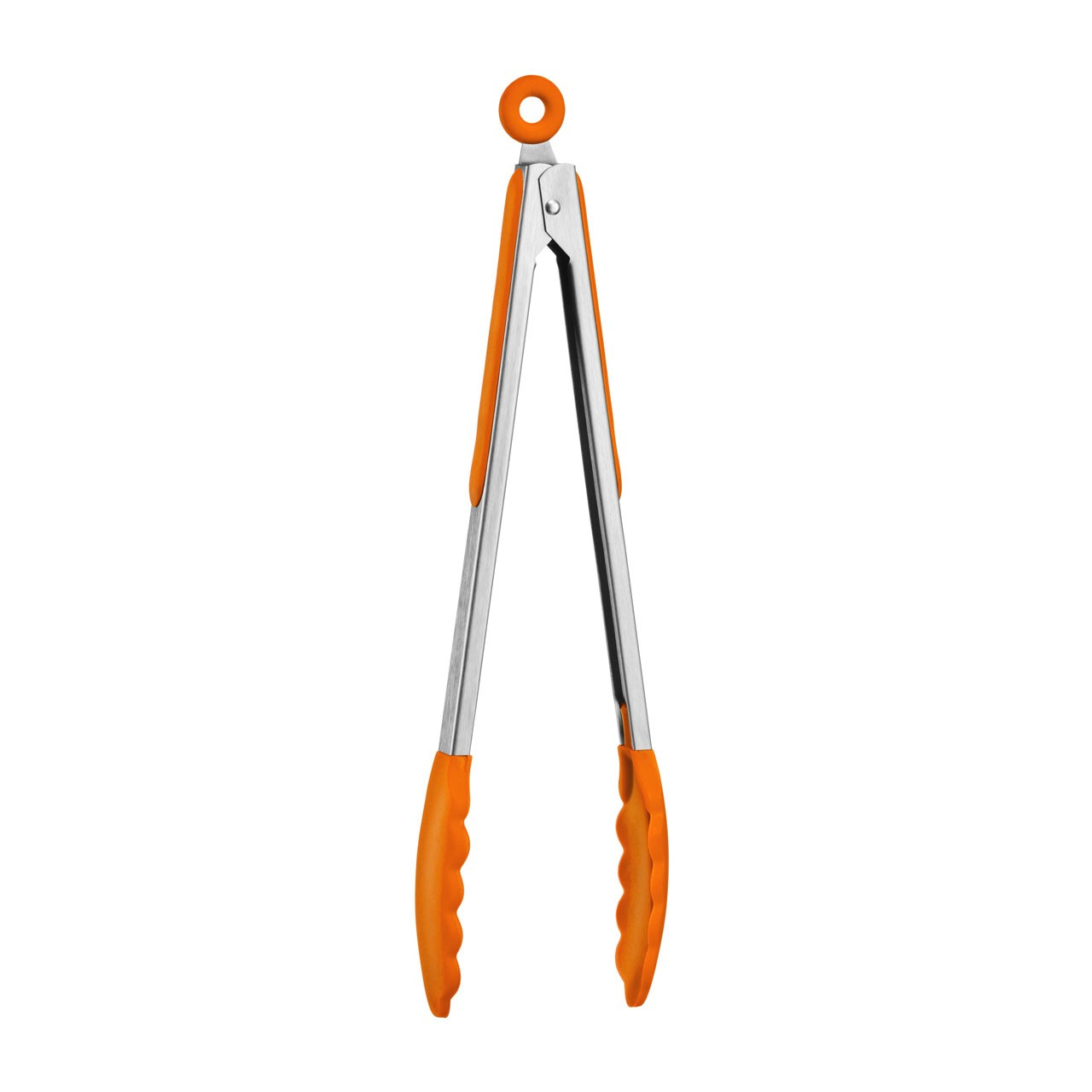 Zing Silicone Tongs - Orange