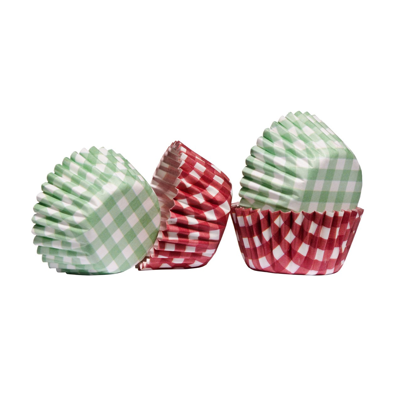00 Mini Fairy Cupcake Cases Gingham Baking Greaseproof Paper
