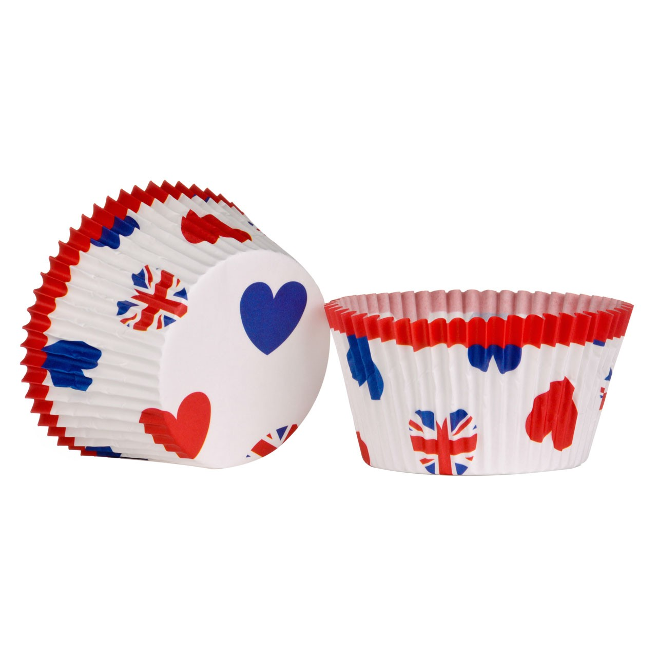 Large Cupcake Cases I Love UK 40pcs