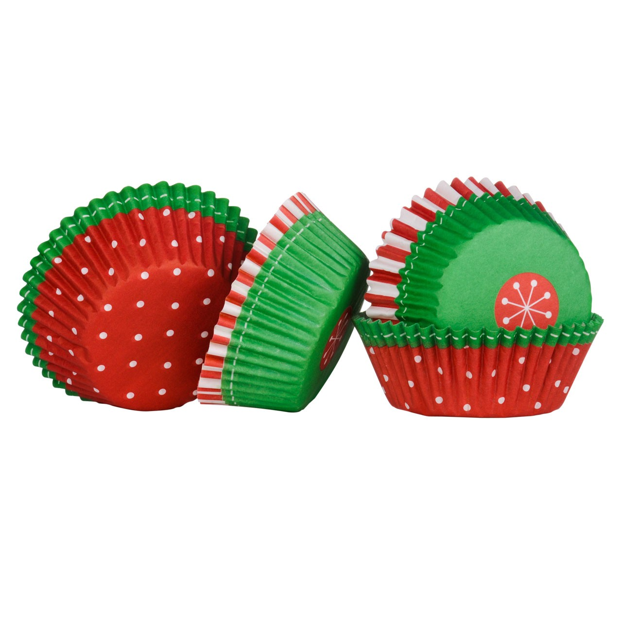 Medium Cupcake Cases Christmas 60pcs
