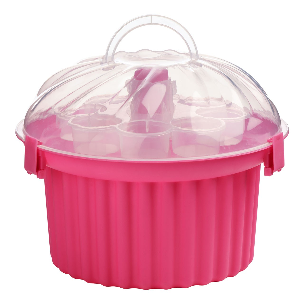 3-Tier Cupcake Carrier - Hot Pink