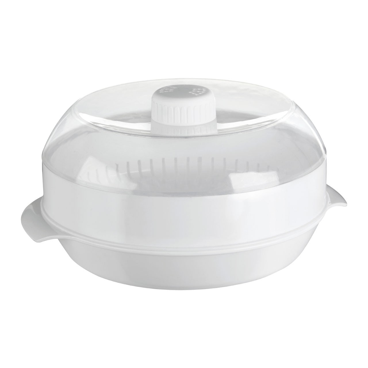 Microwave Steamer White With Clear PP - Polypropylene
