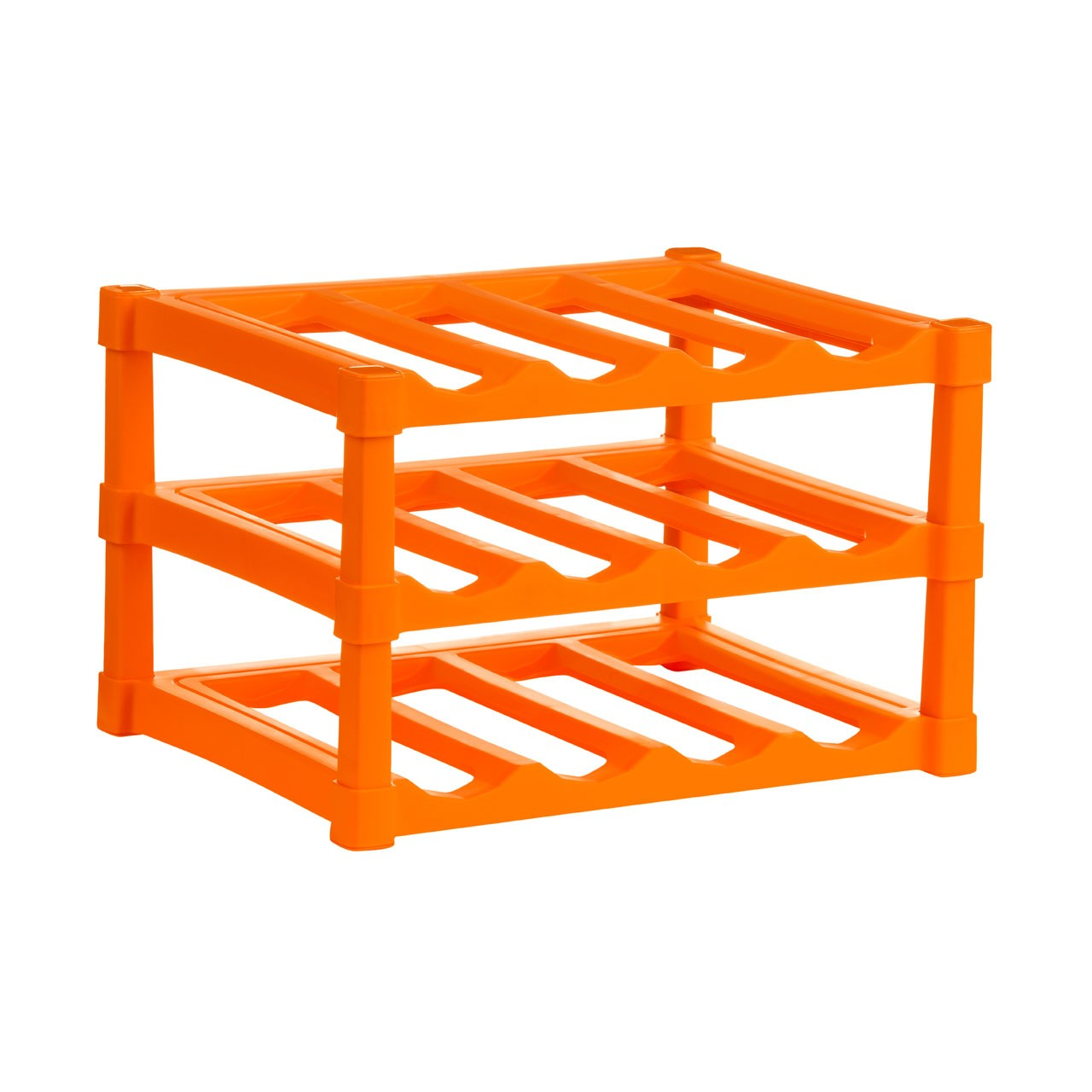 3 Tier Wine Rack - Orange