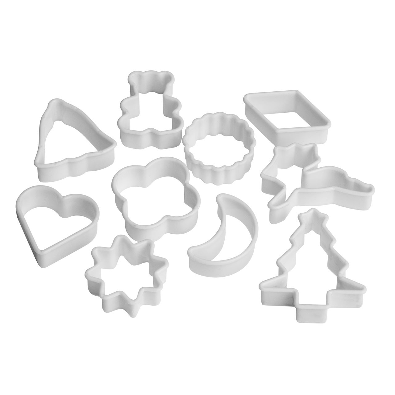 Cookie Cutters - White, Set of 10